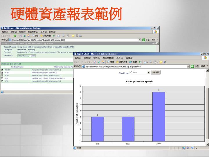 硬體資產報表範例