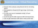 expanding out virtual recruiting