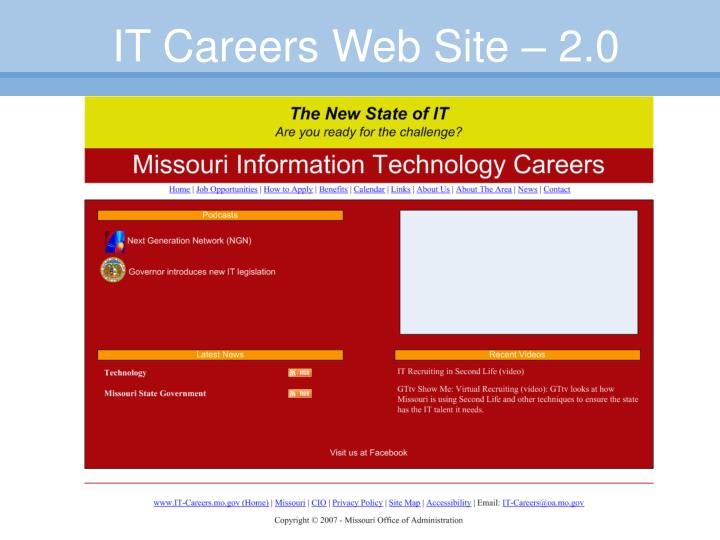 IT Careers Web Site – 2.0