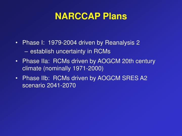 NARCCAP Plans