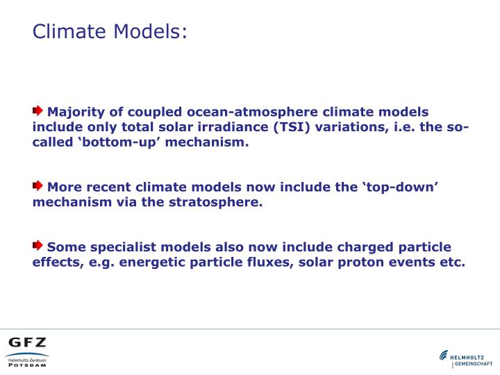 Climate Models: