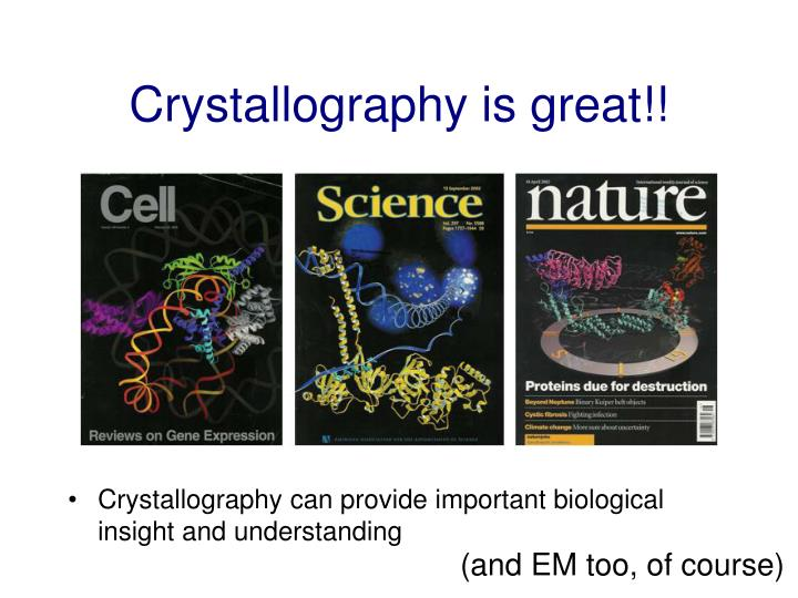 Crystallography is great!!