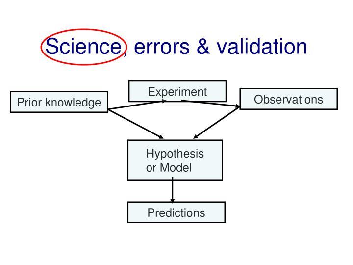 Science, errors & validation