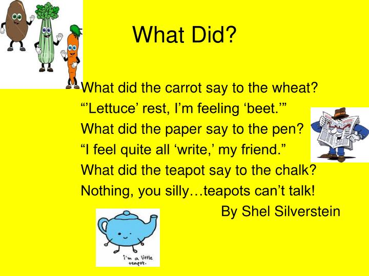 What Did?