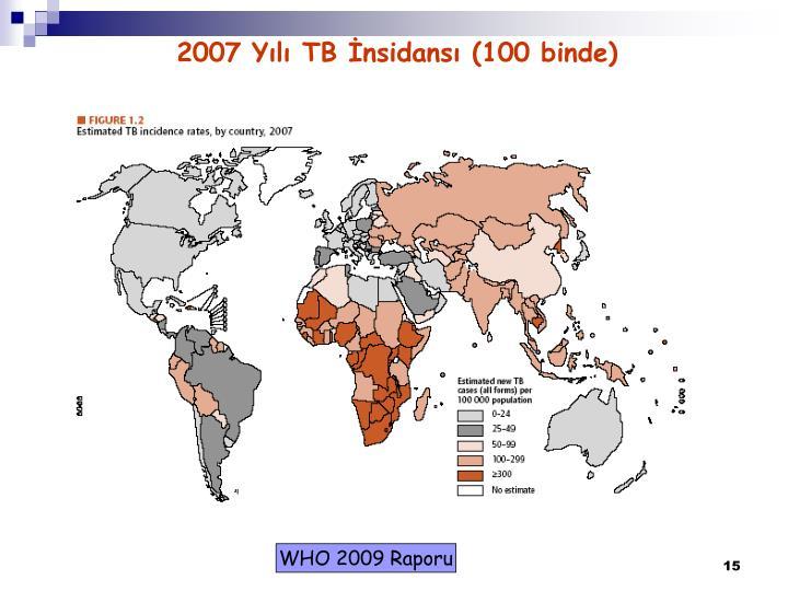2007 Yılı TB İnsidansı (100 binde)