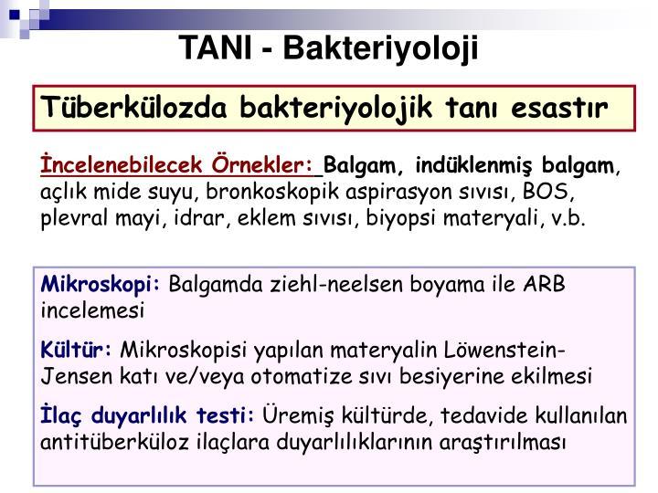 TANI - Bakteriyoloji