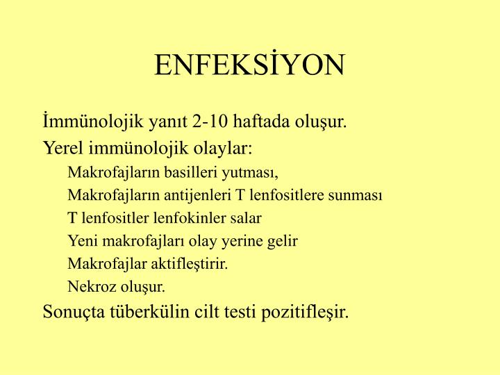 ENFEKSİYON