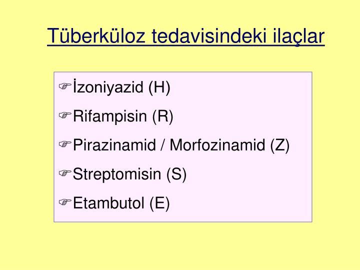 Tüberküloz tedavisindeki ilaçlar