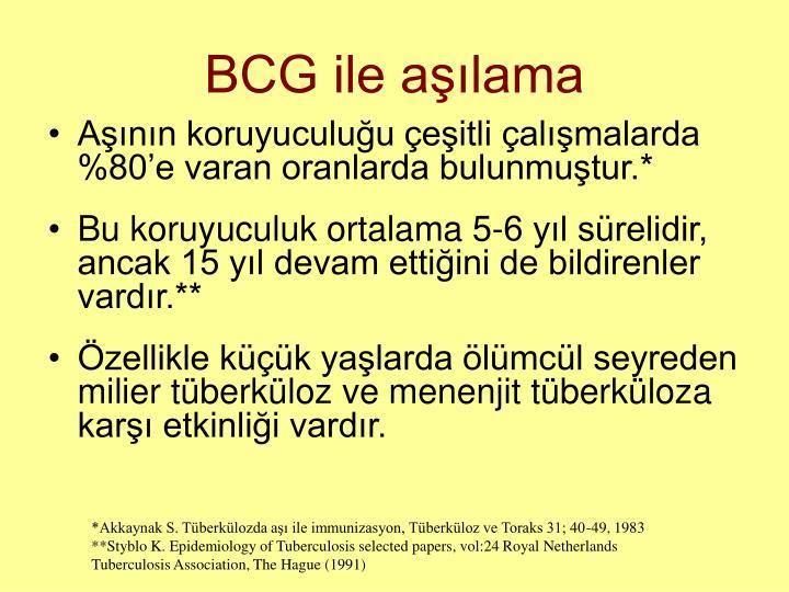 BCG ile aşılama