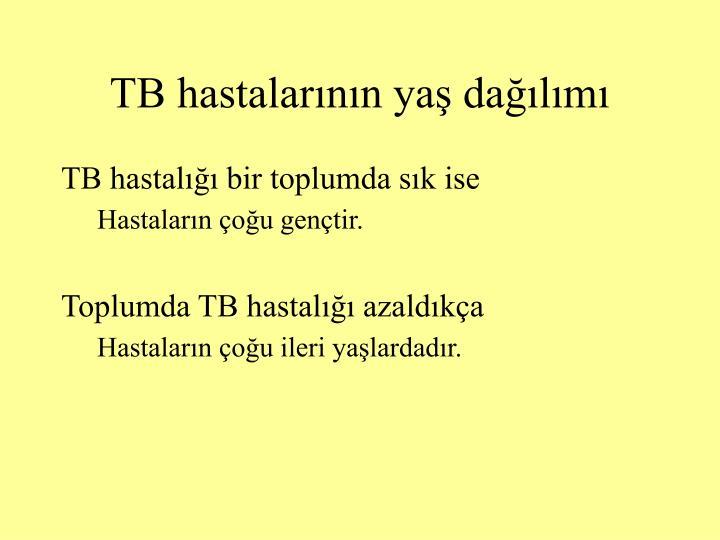 TB hastalarının yaş dağılımı
