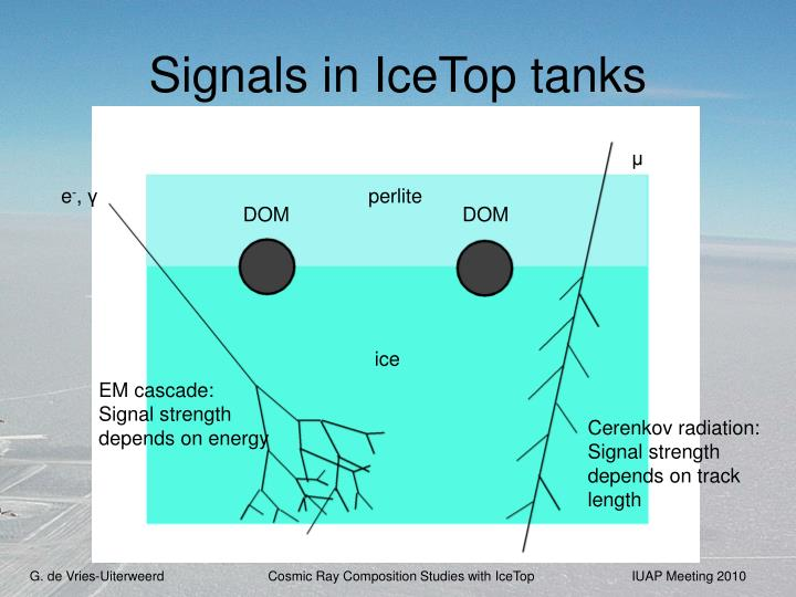 Signals in IceTop tanks
