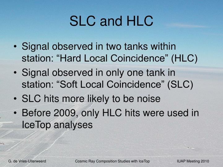 SLC and HLC