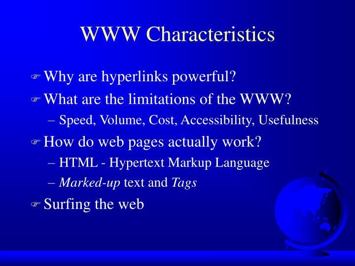 WWW Characteristics