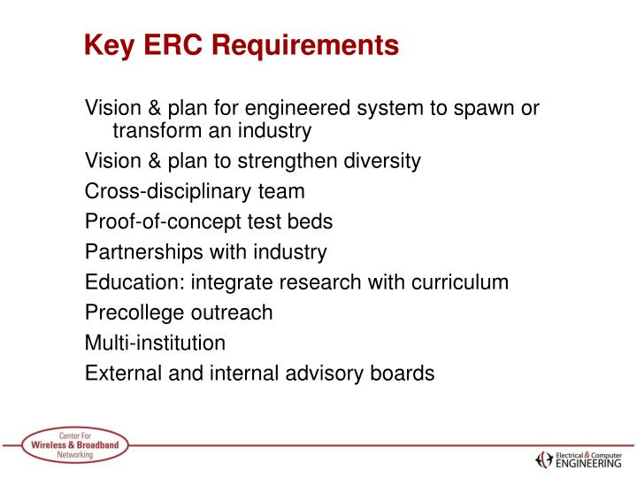 Key erc requirements