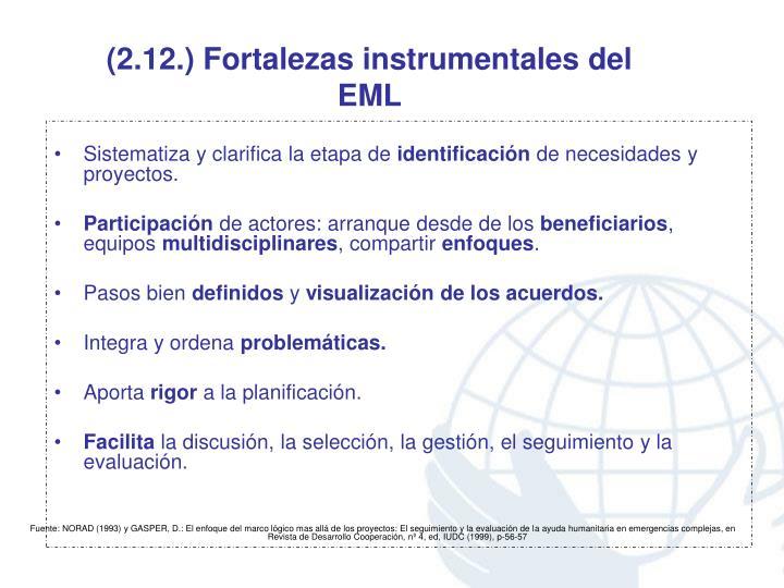 (2.12.) Fortalezas instrumentales del EML