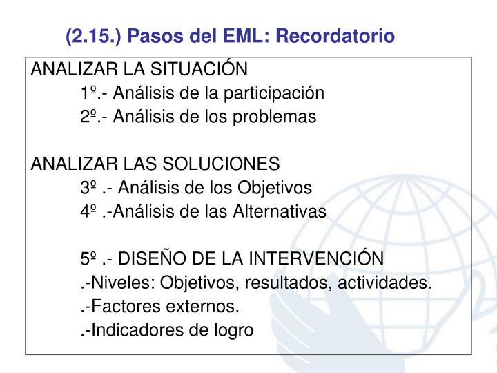 (2.15.) Pasos del EML: Recordatorio