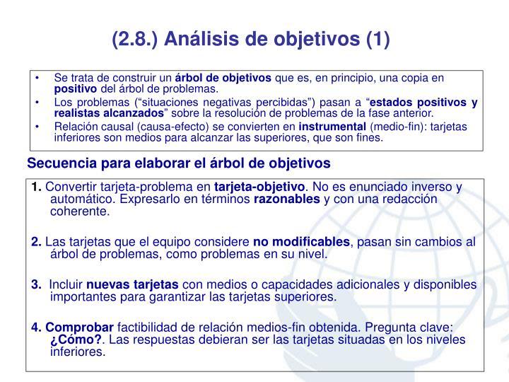 (2.8.) Análisis de objetivos (1)