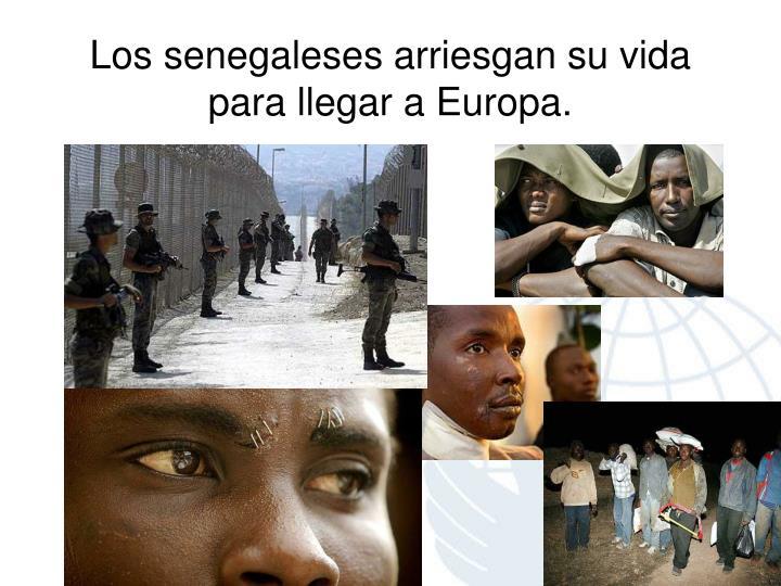Los senegaleses arriesgan su vida para llegar a Europa.