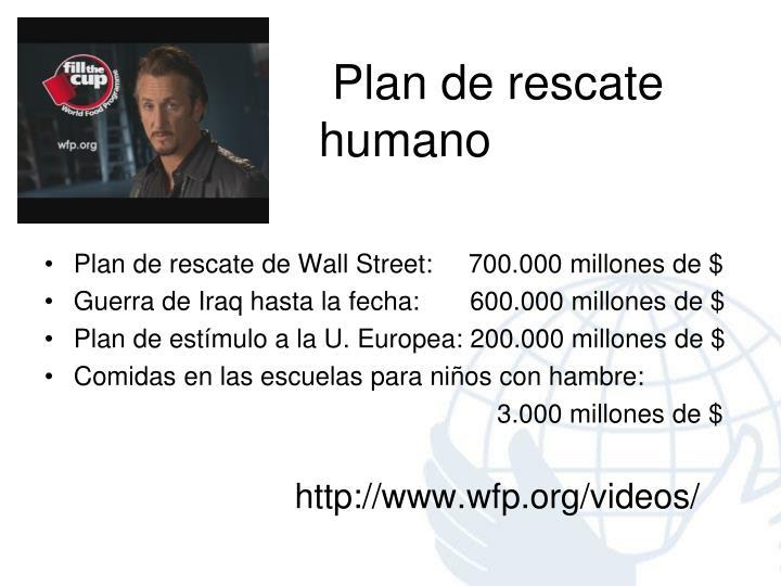 Plan de rescate                              humano