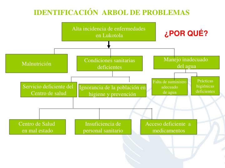 IDENTIFICACIÓN  ARBOL DE PROBLEMAS