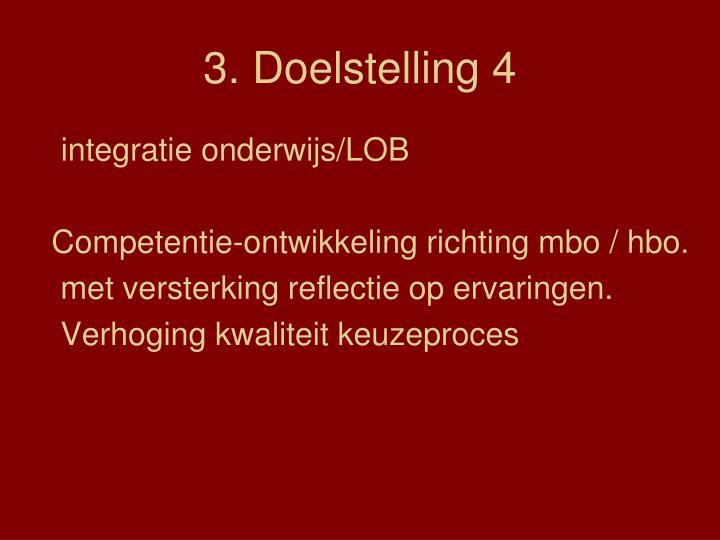 3. Doelstelling 4