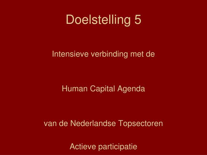 Doelstelling 5
