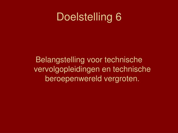 Doelstelling 6