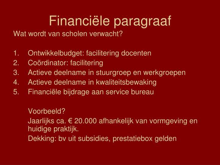 Financiële paragraaf
