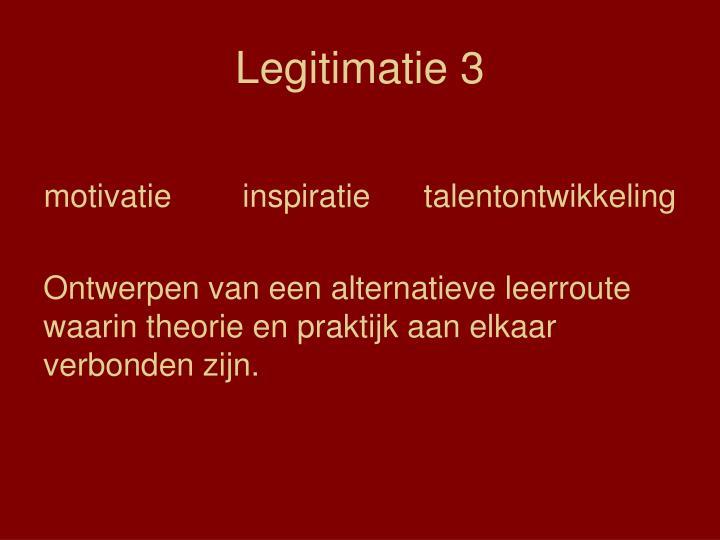 Legitimatie 3