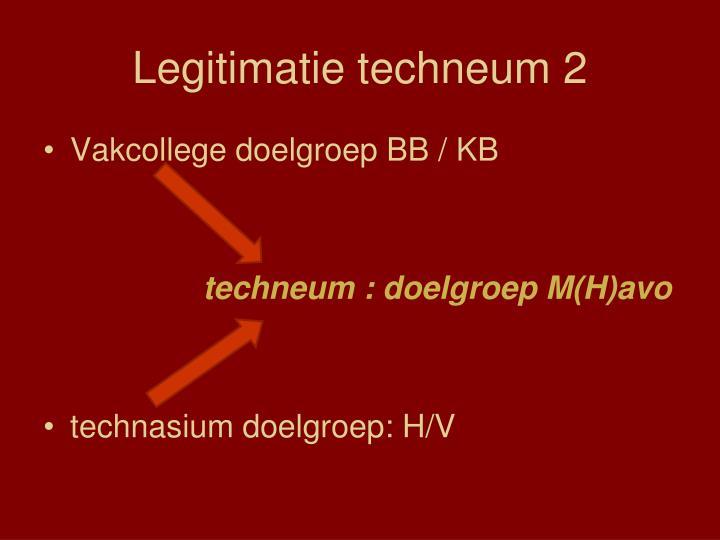 Legitimatie techneum 2