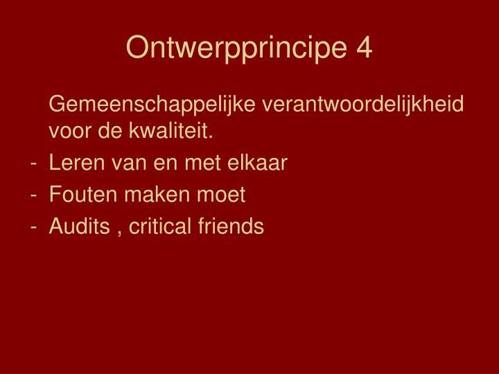 Ontwerpprincipe 4