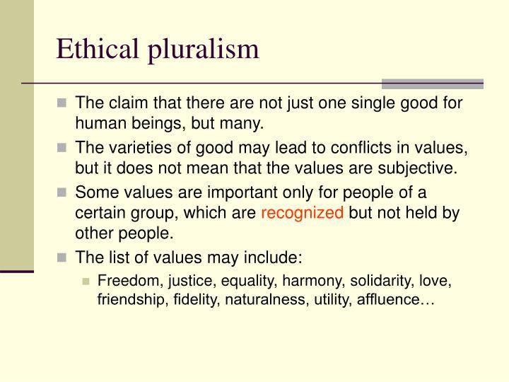 Ethical pluralism