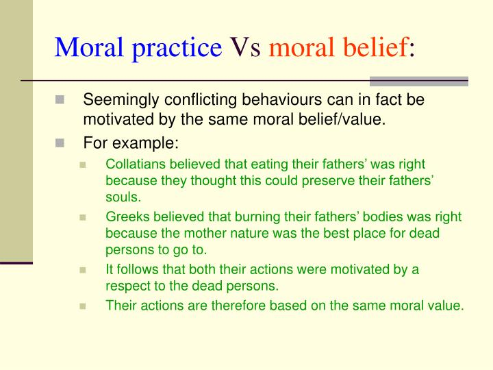 Moral practice