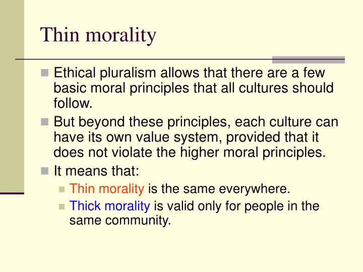 Thin morality