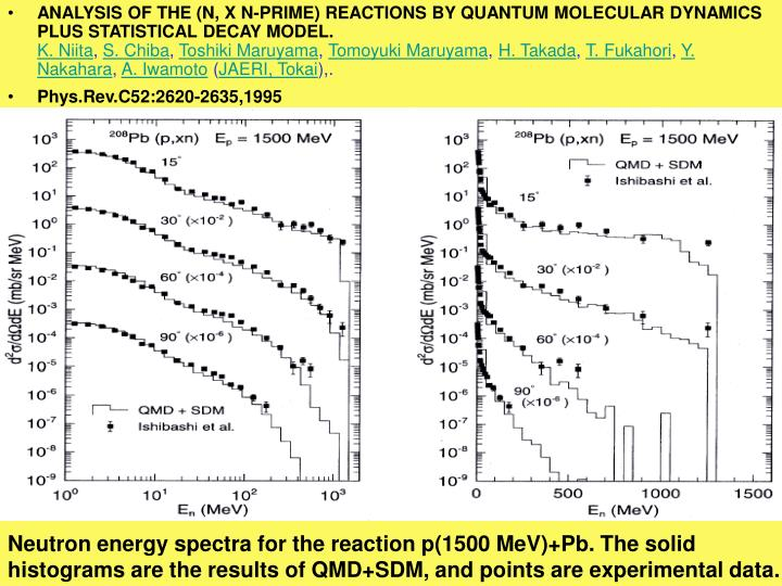 ANALYSIS OF THE (N, X N-PRIME) REACTIONS BY QUANTUM MOLECULAR DYNAMICS PLUS STATISTICAL DECAY MODEL.
