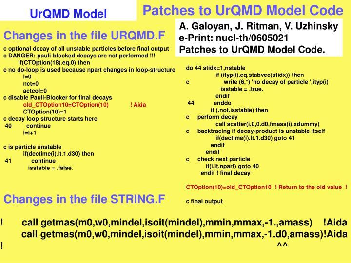 UrQMD Model