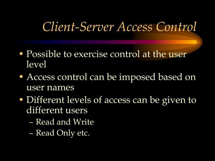 Client-Server Access Control