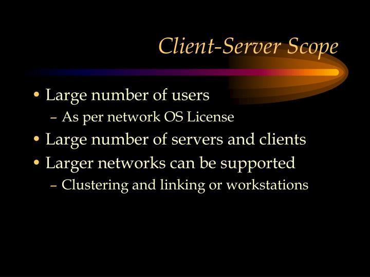 Client-Server Scope