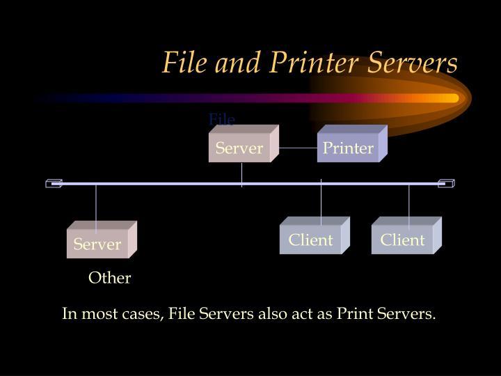 File and Printer Servers