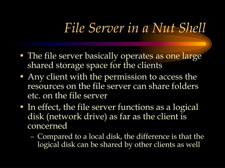 File Server in a Nut Shell