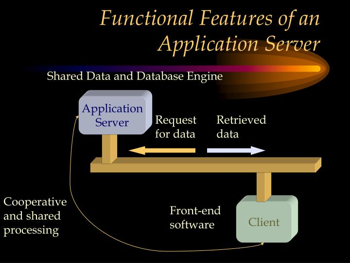 Functional Features of an Application Server