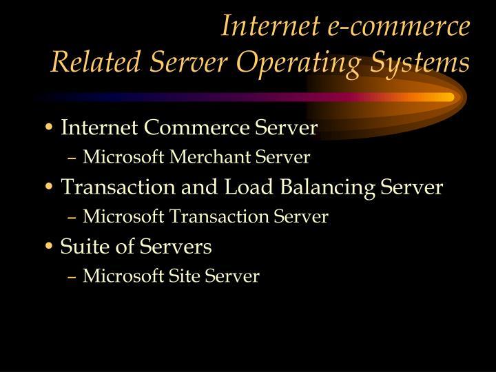 Internet e-commerce