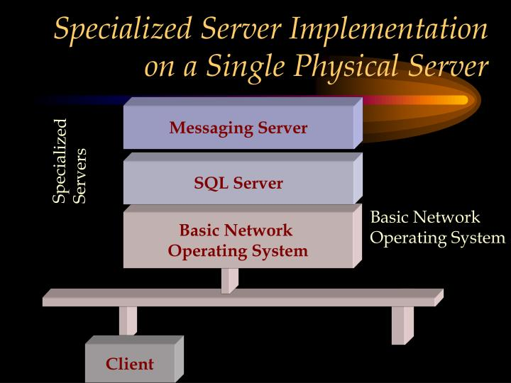 Specialized Server Implementation on a Single Physical Server