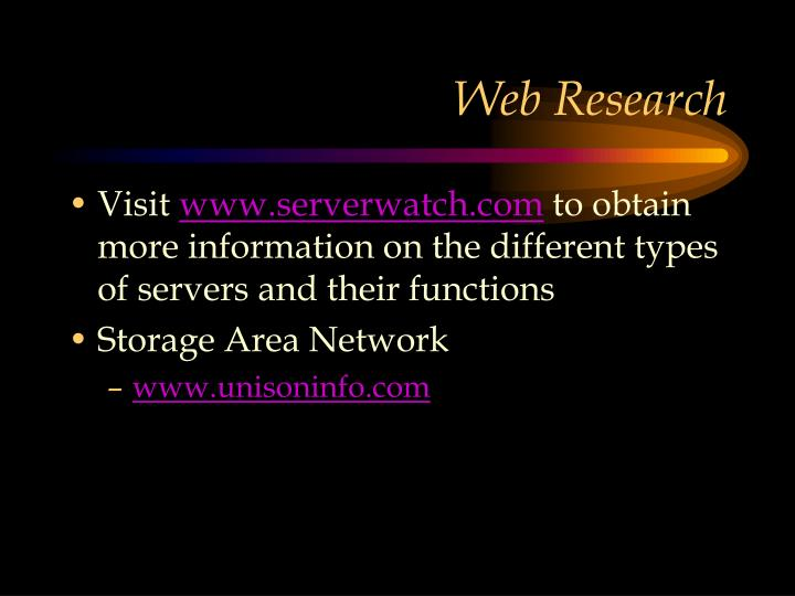 Web Research