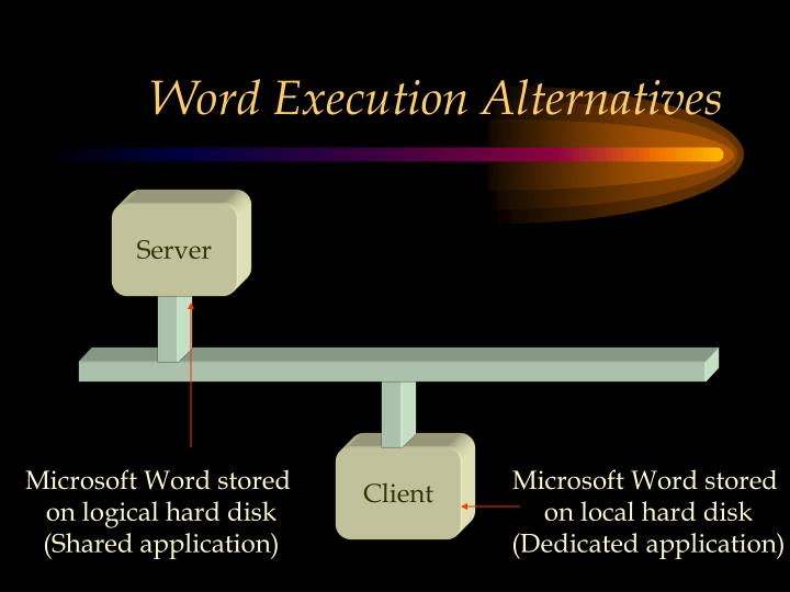 Word Execution Alternatives