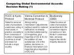 comparing global environmental accords decision making 1