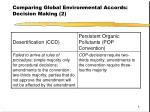 comparing global environmental accords decision making 2