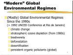 modern global environmental regimes