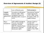 overview of agreements institut design 2