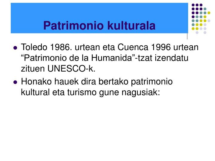 Patrimonio kulturala